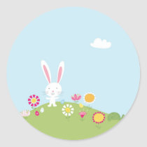 Cute Kids Easter Bunny Stickers