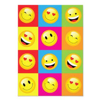 Cute Kids Emoji Party Happy Smiley Face Emoticon Card