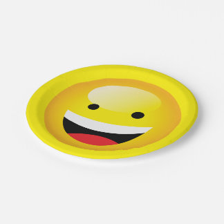 Cute Kids Emoji Party Happy Smiley Face Emoticon Paper Plate