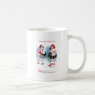 Cute Kids Exchange Valentines Vintage Coffee Mug