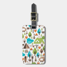 Cute Kids Fox Camping Wildlife Luggage Tag at Zazzle