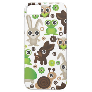 Cute kids frog turtle deer bunny and owl pattern iPhone SE/5/5s case