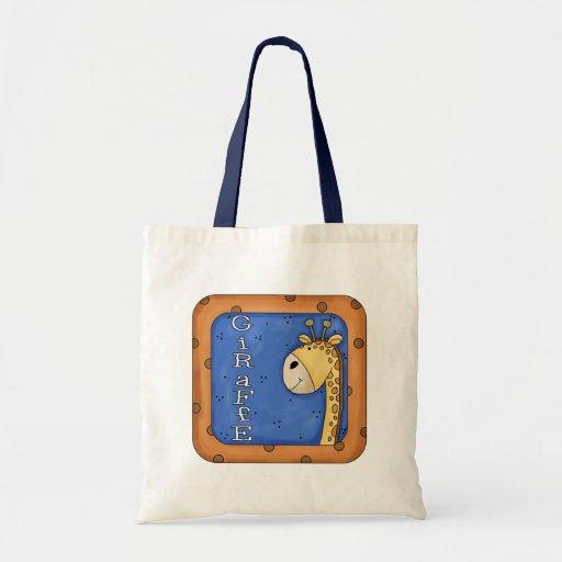 Cute Kids Giraffe Budget Tote Bag