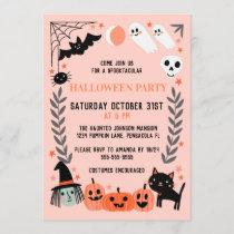 Cute Kids Halloween Party Invitation
