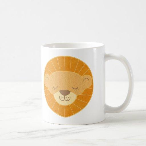 Cute Kids Lion Head Mugs