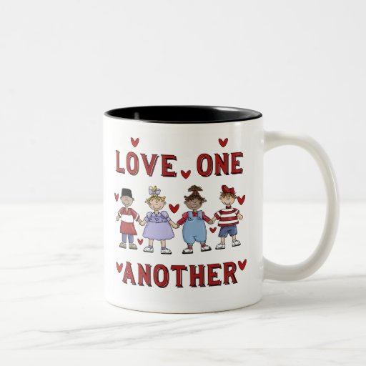 Cute Kids Love One Another Mugs