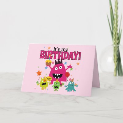 This birthday design for kids features three adorable c