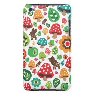 Cute kids pattern with flower leaf deer mushroom iPod touch Case-Mate case