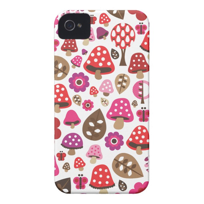 Cute kids pattern with flowers butterfly leafs dot iPhone 4 case