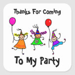 Cute Kids Personalized Birthday Party Favor Seal Sticker