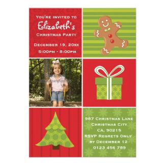 Cute Kids Photo Festive Christmas Party Card