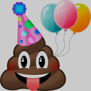 Cute Kids Poop Emoji Birthday T Shirt