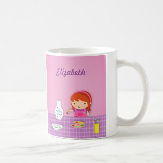Cute Kids Pottery Painting Arts For Girls Coffee Mug