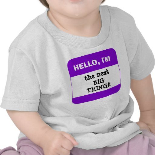 Cute Kids PURPLE Name Tag Hello I'm (add your own) T-shirt