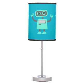 Cute Kids Robot Waving Hello Blue Custom Color Desk Lamp