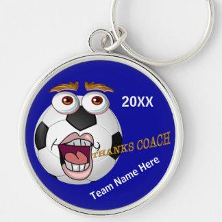 Cute Kids Soccer Coach Gift Ideas YEAR & TEAM NAME Keychain