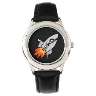 cute kids space rocket fun design watch