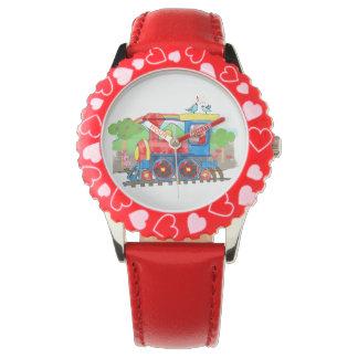 Cute kids template photo steam train watch