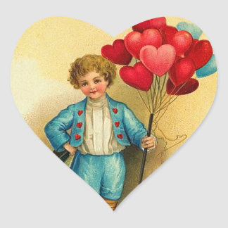Cute Kids Valentine Heart Stickers