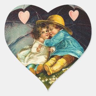 Cute Kids Valentine Stickers