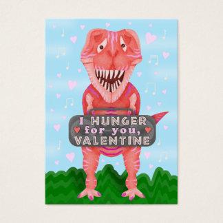 Cute Kids Valentine's Day Dinosaur T-Rex Classroom Business Card