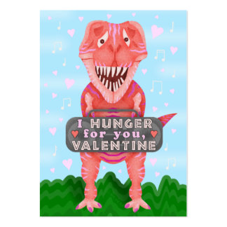 Cute Kids Valentine's Day Dinosaur T-Rex Classroom Large Business Card
