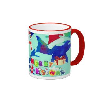 Cute Killer Whale Happy holiday Mug