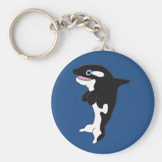 Cute killer whale keychain