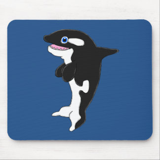 Cute killer whale mouse pad