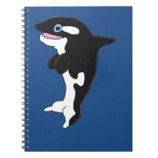 Cute killer whale notebook