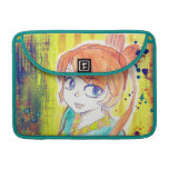 Cute Kimono Girl Watercolor Painting Sleeve For MacBook Pro