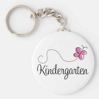 Cute Kindergarten Basic Round Button Keychain
