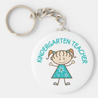 Cute Kindergarten Teacher Basic Round Button Keychain
