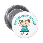 Cute Kindergarten Teacher Pinback Button