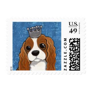 Cute King Charles Spaniel Dog Illustration Postage