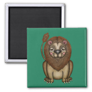 Cute King of the Beasts Lion Magnet