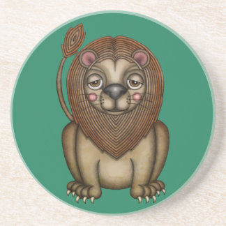 Cute King of the Beasts Lion Sandstone Coaster