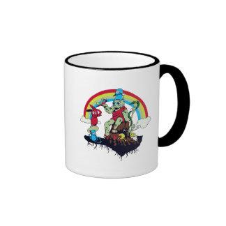 cute king of the friendly monsters vector cartoon ringer coffee mug