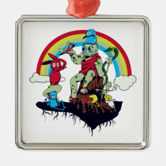 cute king of the friendly monsters vector cartoon christmas ornaments