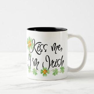Cute Kiss Me I'm Irish Mug