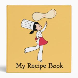 Cute Kitchen Chef Personalized Recipe Album Binder
