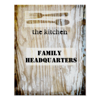 cute kitchen poster quotation on original photo