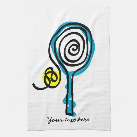 Cute Kitchen towel for tennis player and coach