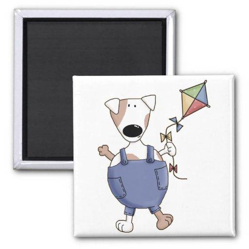Cute Kite Puppy Dog Fridge Magnet