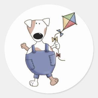 Cute Kite Puppy Dog Stickers