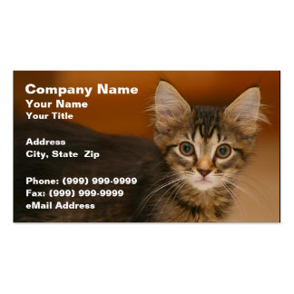 Cute Kitten Against a Brown Background Business Card