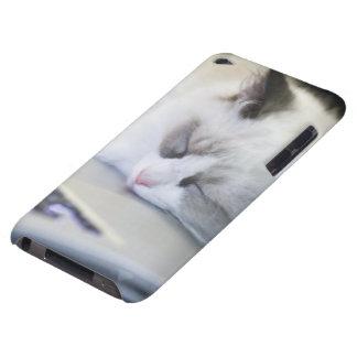 Cute Kitten Asleep on a Laptop iPod Touch Cover