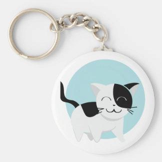Cute Kitten Basic Round Button Keychain