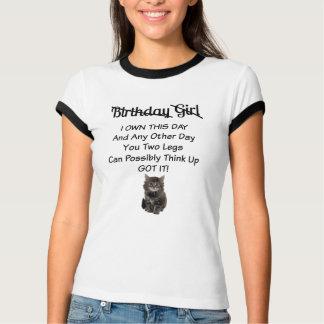 Cute Kitten Birthday Girl Ringer T-Shirt