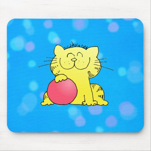 Cute Kitten Bowler Mouse Pad
